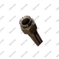 Wholesale High temperature steam flexible metal braided hose with bell mouth internal thread connection is used in printing and dy from china suppliers