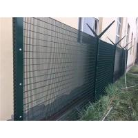 Wholesale Green Anti Climb Fencing Anti Cut 358 Security Mesh Fencing For Border / Military from china suppliers