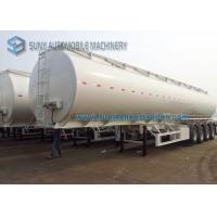 Wholesale Transportation 60000L Fuel Tank Semi Trailer 4 Axle Trailer 14500*2500*3950mm from china suppliers