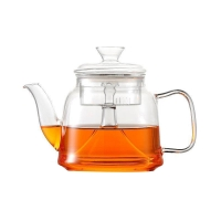Wholesale Borosilicate Flower Heat Resistant Glass Teapot With Filter from china suppliers