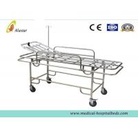 Wholesale Four Wheels Ambulance Stretcher Trolley , Hospital Stainless Steel Stretcher Cart ALS-S017 from china suppliers