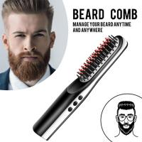 Wholesale Natural hair styles tools for men original mini ceramic electronic cordless straightening hair brush comb from china suppliers
