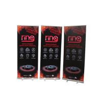 Floor Standing Roll Up Banner Display Vertical Easy Carry Professional Artwork