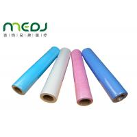 Wholesale Paper And PE Medical Disposable Bed Sheets 49cmX50m Fabric Roll from china suppliers