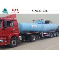 Wholesale 40 Tons Sulfuric Acid Tanker Truck , Chemical Road Tankers With Airbag Suspension from china suppliers