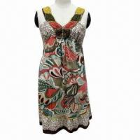Wholesale Fashionable Ladies' Dress with Beading Accessories and Wrap Elastic from china suppliers