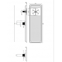 Wholesale Detachable 60cm Bar Drip Tray With Glass Rinser And Drainer from china suppliers