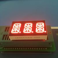 """Buy cheap 0.54"""" 3 Digit 14 Segment LED Display Alphanumeric Super Bright Red LED Color from wholesalers"""
