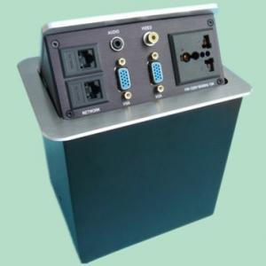 Wholesale Desktop Pneumatic Socket Office Connection Box/Tabletop Socket    Flip-up Tabletop Socket from china suppliers