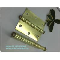 China Brass Plated  Heavy Duty Door Hinges , Ball Tip Garage Door Hinges Wooden Box Packing on sale