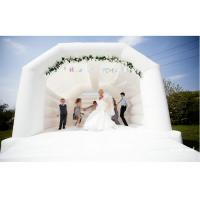 Buy cheap 0.55mm PVC Tarpaulins White Inflatable Bounce House Bouncy Castle For Wedding from wholesalers