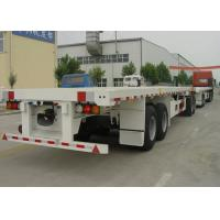 Wholesale 80 Feet Flatbed Semi Trailer Train With 1 Flatbed Trailer And 1 Drawbar Trailer from china suppliers