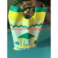 Buy cheap W14 X L28cm Die Cut Handle Bags / Hand Hole Shopping Plastic Travel Bags from wholesalers