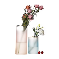 Wholesale Fresh Dried Flower Hand Blown Decorative Glass Vases 25cm Height from china suppliers