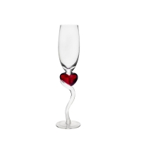 Wholesale Heart Shaped 140ml Decorative Crystal Stem Wine Glasses With Curved Handle from china suppliers