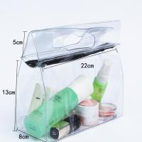Wholesale Transparent Travel Kit Makeup Organizer Pouch with Punching Holes Handles from china suppliers