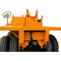 Wholesale 40ft Length Flatbed Semi Trailer , Heavy Duty Flatbed Trailer 30T - 60T Capacity from china suppliers