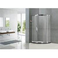 China Mirror Color Sliding Offset Shower Enclosure Clear / Printed Tempered Glass CE Certification on sale