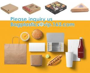 Wholesale Custom Printed Corrugated Cardboard Recycle Paper Pizza Box Custom Kraft Paper Pizza Box, Fast Food Box from china suppliers