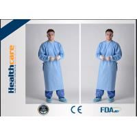 Wholesale Lightweight Disposable Surgical Gowns With Knitted Cuff Blood Resistence 130x150 Sterile Coat from china suppliers