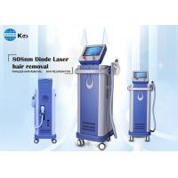 China Painless and permanent hair removal 808nm diode laser machine 500W portable large spot size imported sapphire on sale