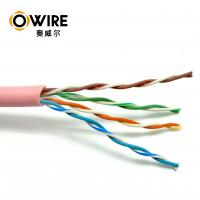 Wholesale 4P Twisted Pair Bulk CAT5E Ethernet Cable 0.48mm 305m Size 100MHz Frequency from china suppliers