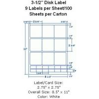 """Wholesale 3-1/2"""" Disk Label 9sets Labels per Sheet/100 Sheets per Carton from china suppliers"""