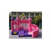 Buy cheap 0.55mm PVC Commercial Inflatable Pink Cinderella Princess Bouncer With Slide from wholesalers