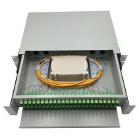Buy cheap 48 port rack mounted fiber optic patch panel / wall mounted fiber optic terminal from wholesalers