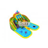 Wholesale Funny castle inflatable amusement park names with pool and inflatable floating toys from china suppliers