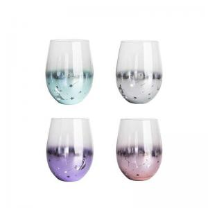 Wholesale Cylinder Starry Sky Personalized Glass Cup Colorful 500ml for Coffee from china suppliers