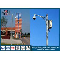 Wholesale Q235 CCTV Camera Pole With Hot Dip Galvanized / Powder Coated / Painting Craft from china suppliers