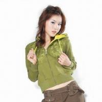 Wholesale Women's CVC Fleece Jacket from china suppliers