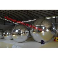 Buy cheap Colorful Inflated Helium Balloons / Inflatable Mirror Ball Ornaments For Advertising from wholesalers