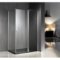 Wholesale 1200x800x6mm Clear Glass Shower Enclosures With Tray , Glass Bathroom Enclosures from china suppliers