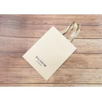 Wholesale Handmade OEM printed luxury Paper shopping bags SGS certified with matching color strong silk fabric Handle from china suppliers