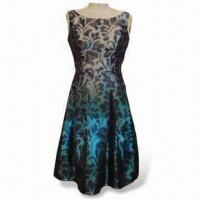 Wholesale Women's Printed Dress with Dip-dyed from china suppliers