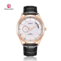Buy cheap Business Gift Leather Strap Wrist Watches For Men / Classic Leather Band Watches from wholesalers