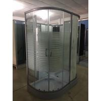 Wholesale Horizontal Stripe 5m Door Thickness Tempered Glass Corner Shower Cabin 90 x 90 x 200 / Cm from china suppliers
