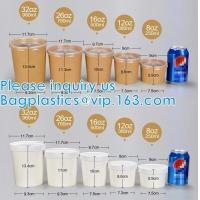 Wholesale Eco Friendly Disposable Takeaway Food Container Kraft Paper Noodle Bowls Hot Soup Cup With Paper Flat Lid from china suppliers
