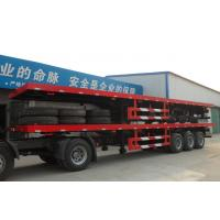 Wholesale flatbed semi trailers for sale/40ft flatbed container chassis from china suppliers