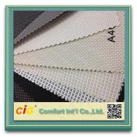 China Multi - Color Sunscreen Roller Blind Fabric Embroidery PVC Coated Polyester on sale