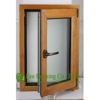 China Casement Type Wood Aluminum Window, Insulating Double Glass(Inside is natural wood) on sale