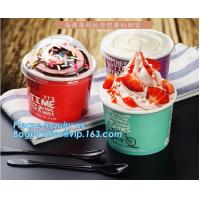 Wholesale A series of custom logo printed double PE coated icecream paper cup with lid from Wuhan manufacturer bagplastics bagease from china suppliers