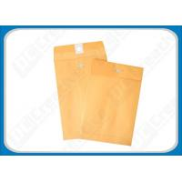 Buy cheap Customized Logo Printed Golden Withe Manila Paper Metal Clasp Envelopes without Window from wholesalers