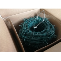 Wholesale Galvanized Barbed Wire 12 Gauge Concertina Coil Fencing Airport Security 25kg Per Roll from china suppliers