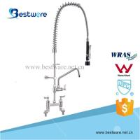 China Commercial Kitchen Single Deck Mounted Stainless Steel Pull-out Pre-Rinse Faucet on sale