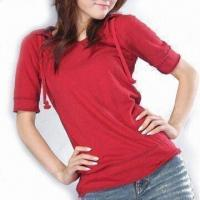 Wholesale Women's Middle Sleeves Hood T-shirt from china suppliers