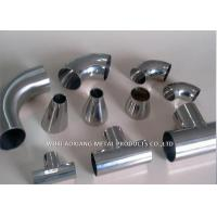 Wholesale Polished Stainless Steel Elbow Fitting / 316L Stainless Tube Fittings For Chemical from china suppliers