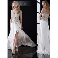 Wholesale Spring Chiffon Party Dresses for Ladies with Crystal Beads / Split Front from china suppliers